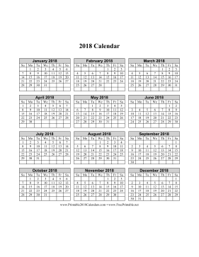 Free Daily Calendar To Print My Calendar Maker Design And Print Your Own Free Printable 2018 Calendar On One Page Vertical Grid