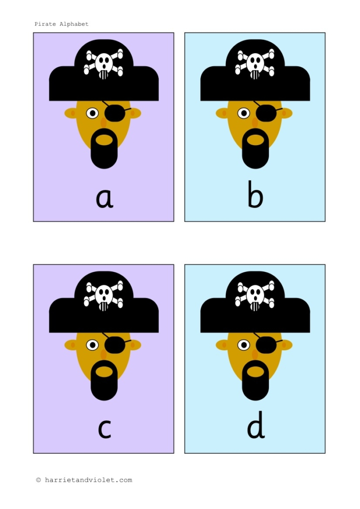 Pirate Alphabet Lower Case Flashcards - Free Teaching Resources