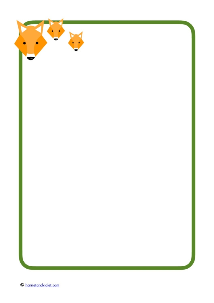 Fox A4 selection of border paper - Free Teaching Resources - Print - lined border paper