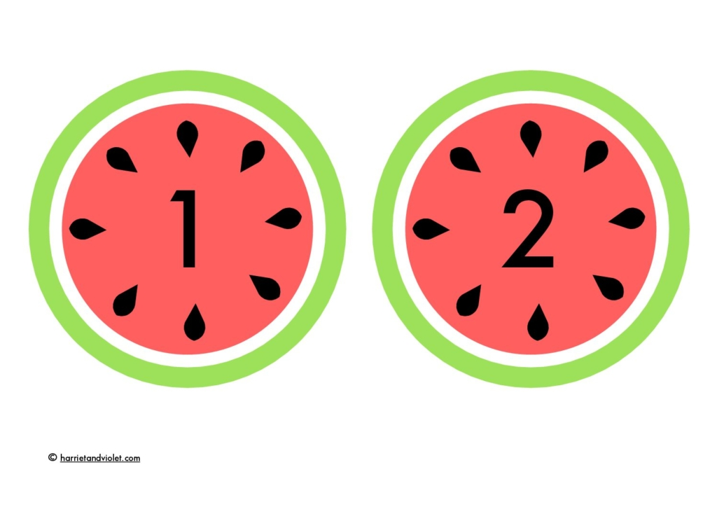 Melon - flashcards 1-20 - Free Teaching Resources - Print Play Learn