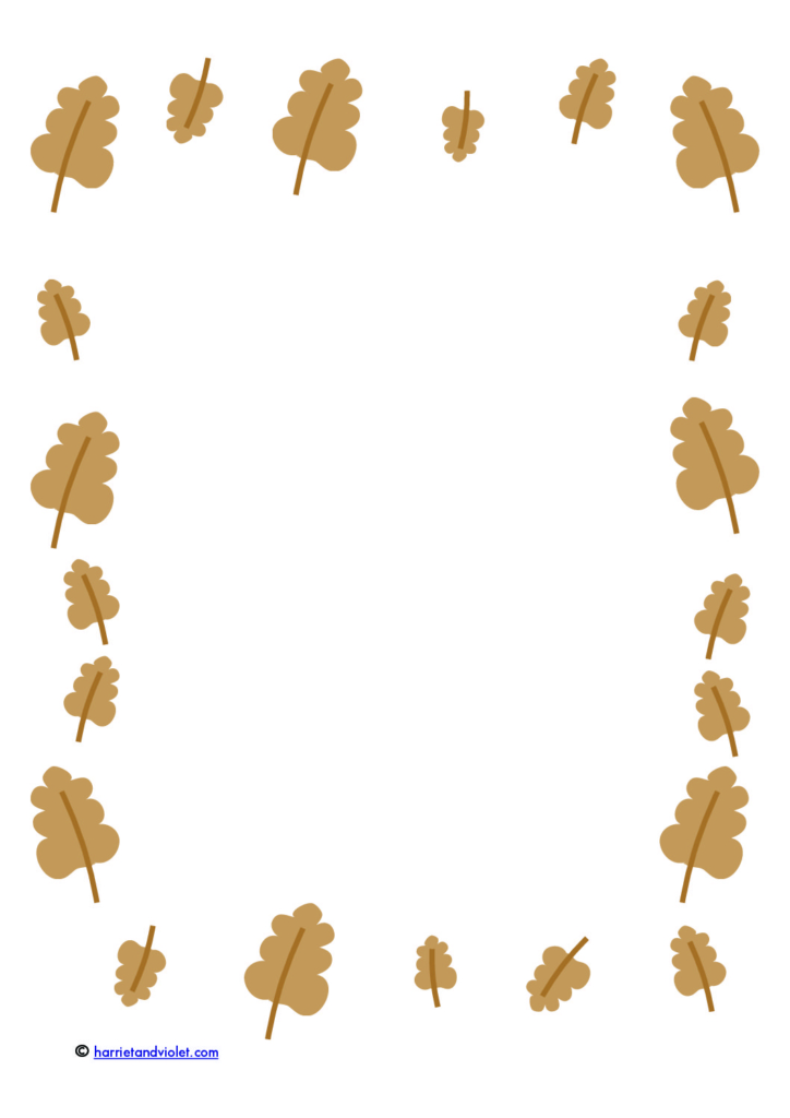Autumn leaf border paper plain, lined + half lined - Free Teaching - lined border paper