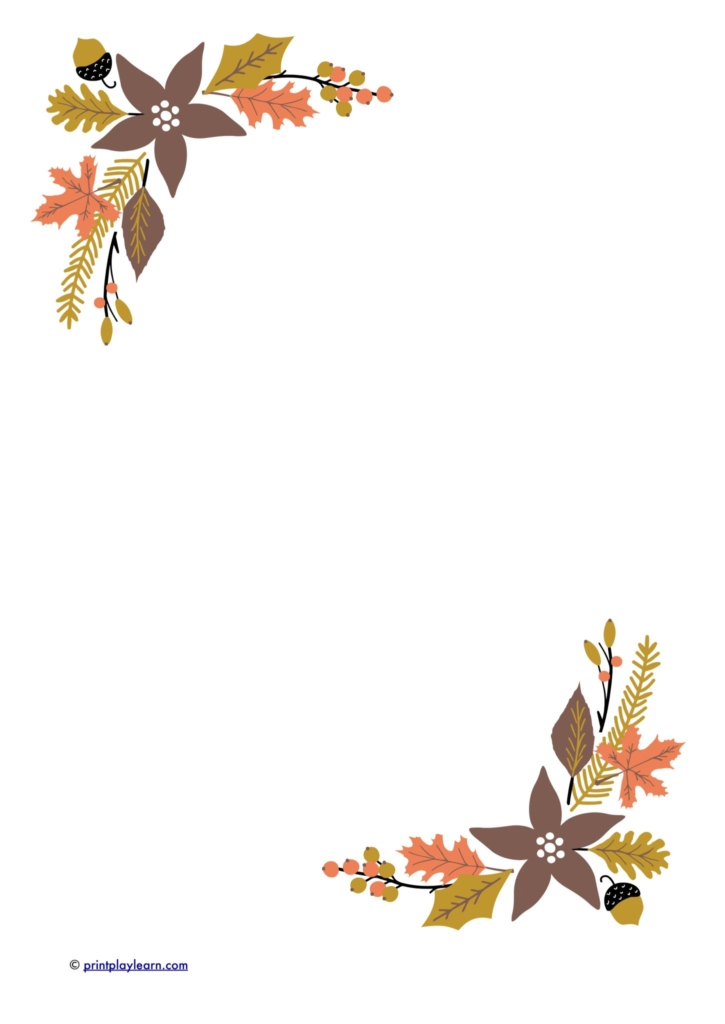 Autumn Leaves writing paper - Free Teaching Resources - Print Play Learn