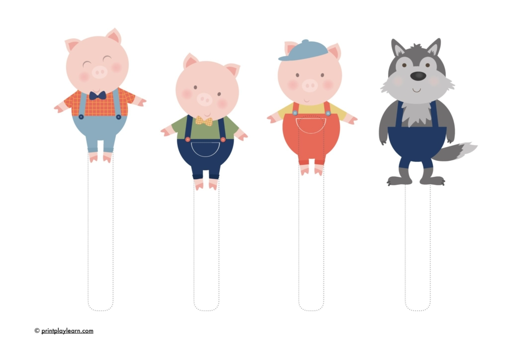 Three Little Pigs - Page 1 - Free Teaching Resources - Print Play Learn