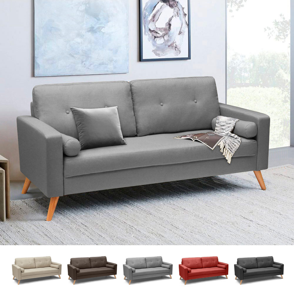 B Famous Schlafsofas Modern Design, Scandinavian Style, Fabric 3 Seater Sofa For Living Rooms And Offices Acquamarina