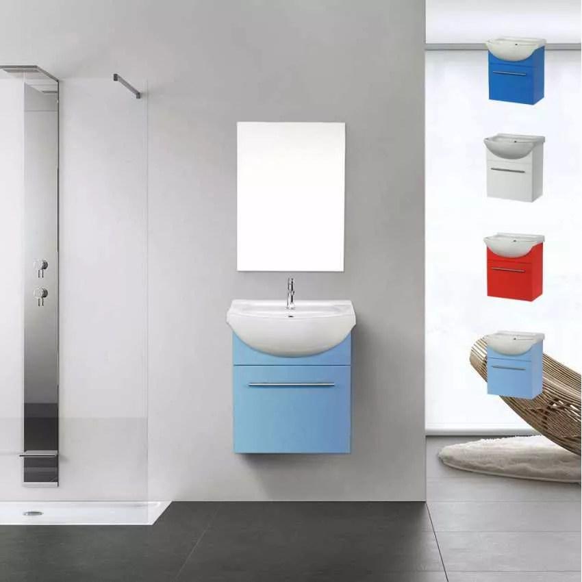 Déco pour la salle de bain Complet de Meuble Évier et Miroir ANDROMEDA - Meuble Avec Miroir Pour Salle De Bain