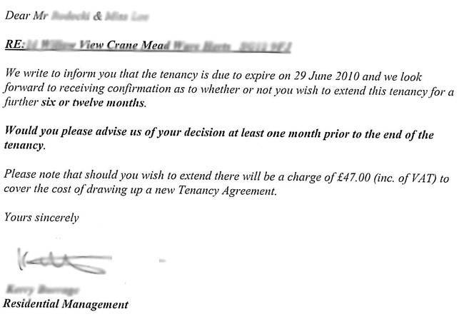 Letter Not Renewing Contract Sample This Is How I Helped My Friend Avoid Paying A Tenancy