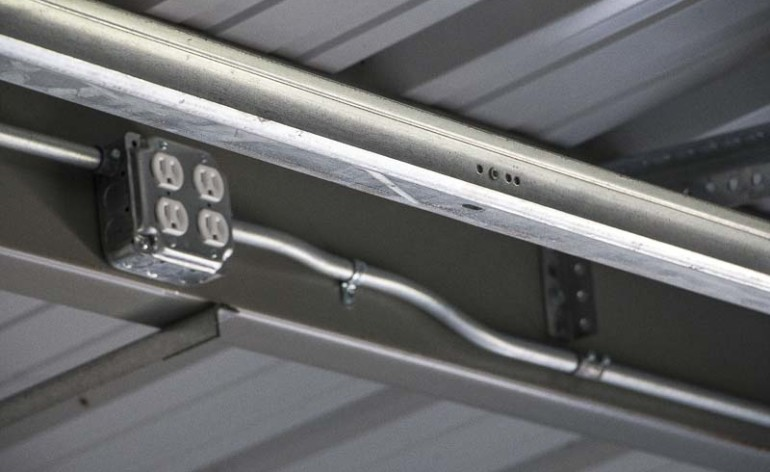 Steel Building Electrical Conduit  Lighting Installation