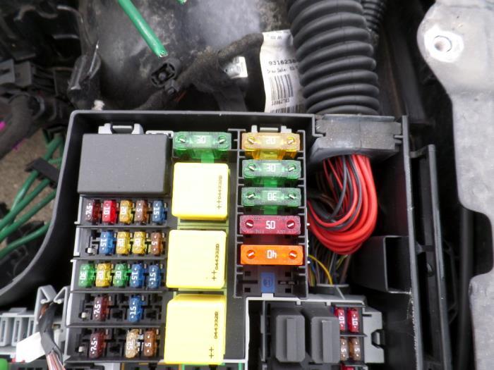 Opel Corsa B Fuse Box wiring diagram panel