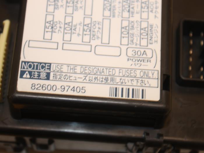 Used Daihatsu YRV (M2) 13 16V DVVT Fuse box - 8260097405 - van Gils
