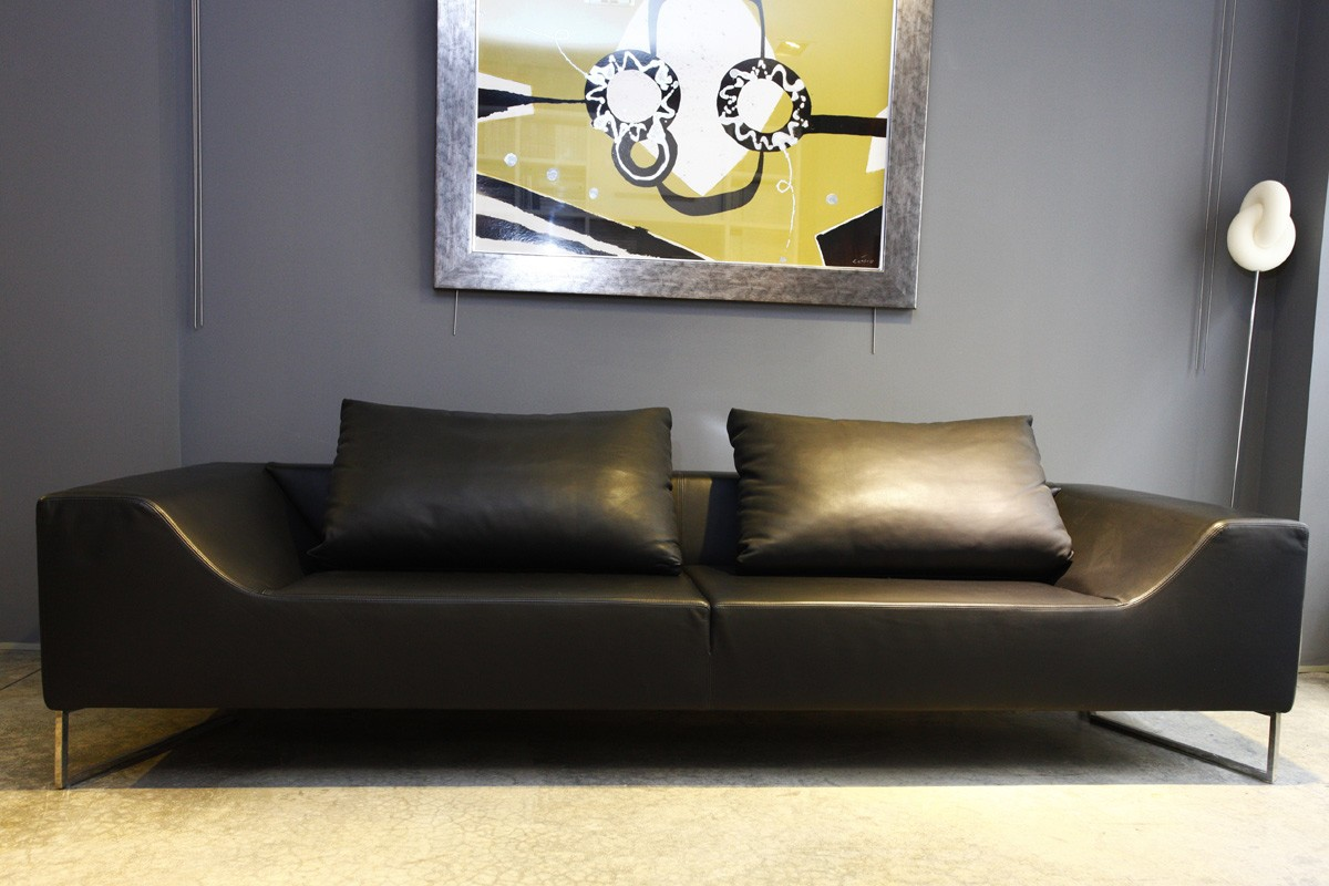 Sofa Outlet Alicante SofÁ Piel Negro Aero De Desiree Mobiliario Cocimed