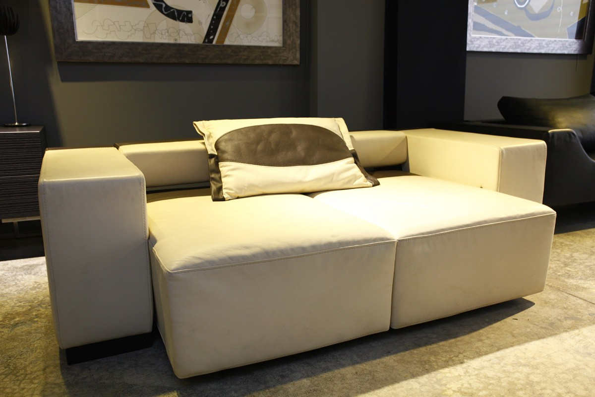Sofa Outlet Alicante SofÁ Piel Beige MarrÓn Chocolate Extensible De Marti