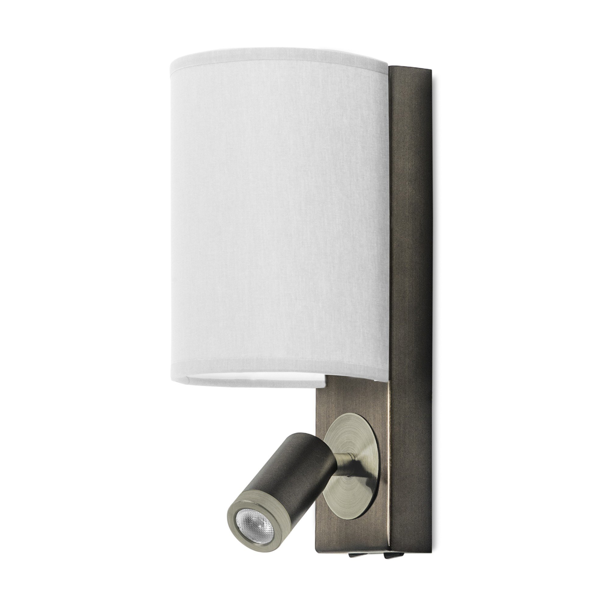 Lamparas Leds C4 Leds C4 Buc Aplique De Pared Aluminio Con Lector Led