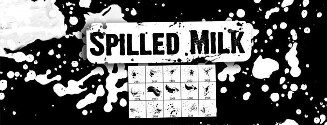 Spilled Milk Photoshop Splatter Brushes - Download Qbrushesnet
