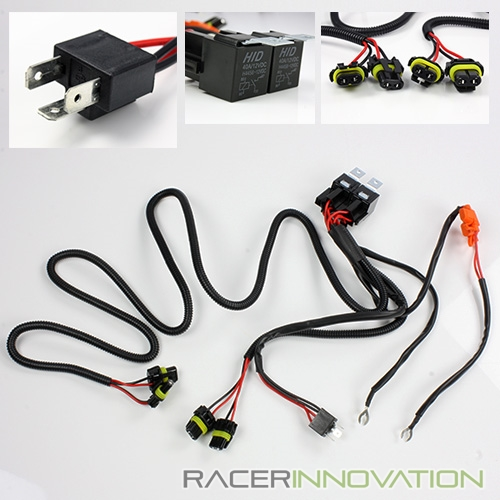 Dual Relay Wiring Harness for Bi-Xenon H4-4/9003-4/HB2-4 4 HID