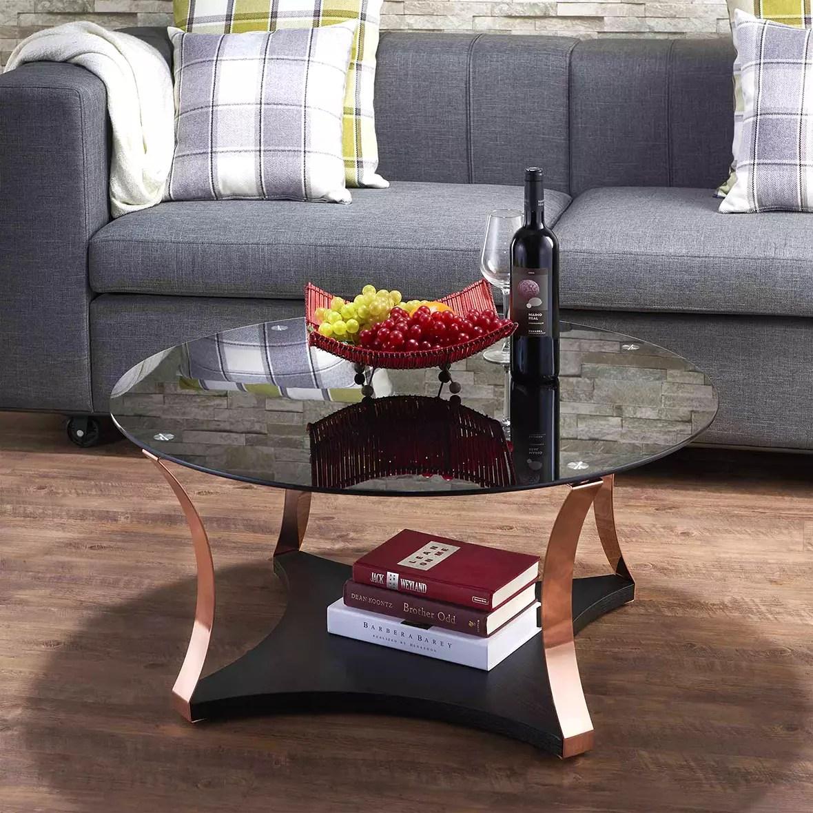 schwarzer glas tischplatte couchtisch buro und zuhause