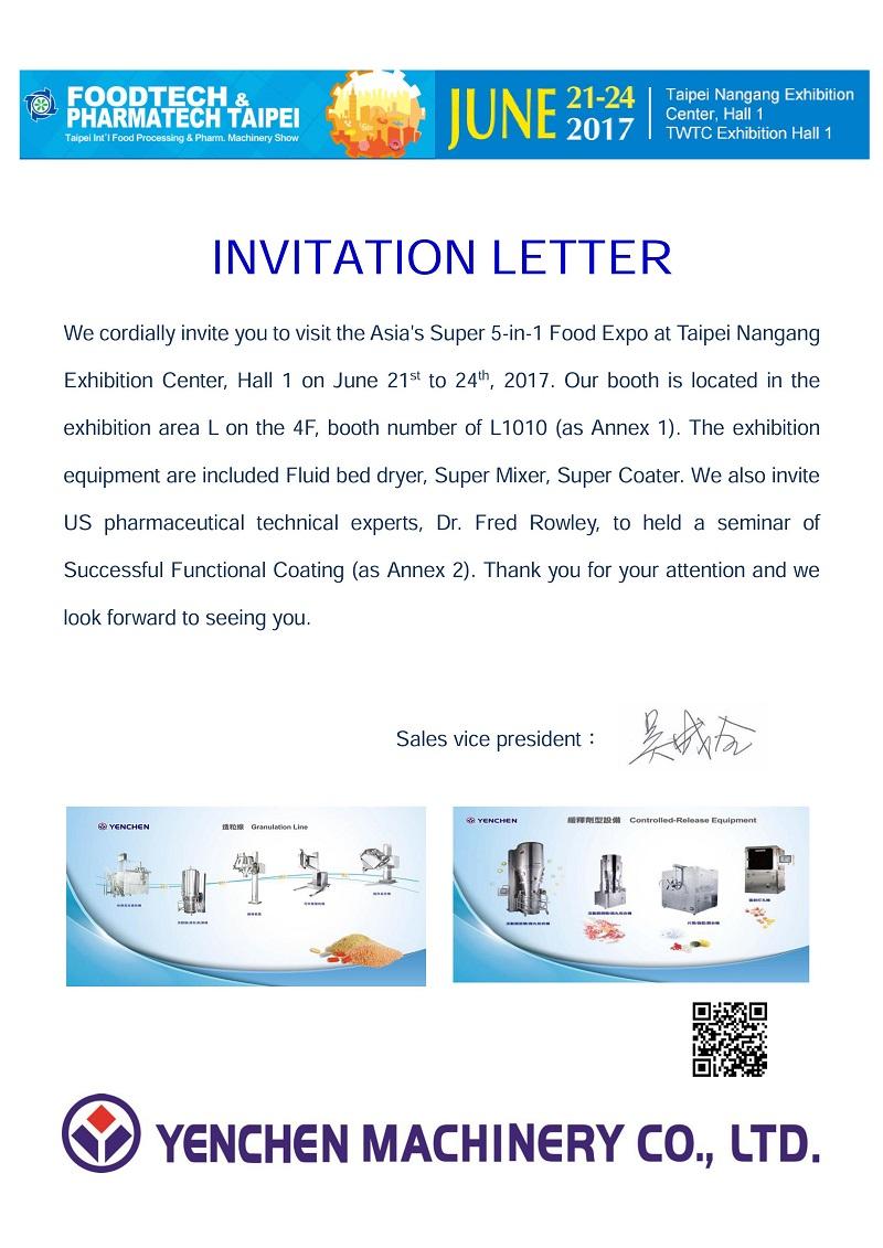 Invitation letter exhibition booth invitationswedd the invitation of pharmaceutical machinery exhibition seminar stopboris Choice Image