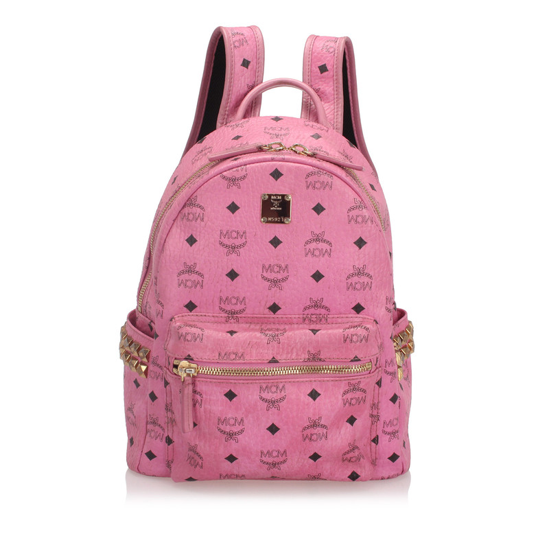 Mcm Backpack Leather In Pink Second Hand Mcm Backpack Leather In Pink Buy Used For 684 4875961