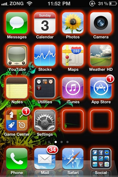 Make Your iPhone / iPod touch's App Icons Glow with Glowing App Icons | Redmond Pie