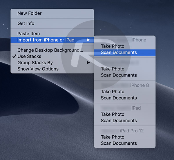 How To Scan Documents, Import Photos In macOS Mojave From iPhone\u0027s