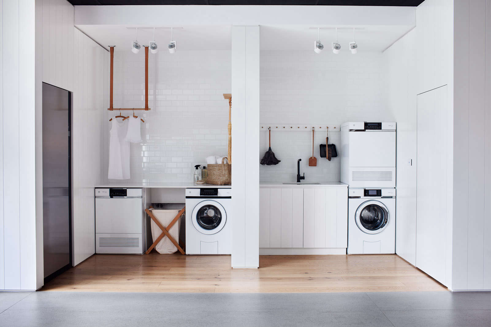 Designer Wäschekorb Steal This Look All White Laundry Room In Melbourne Remodelista