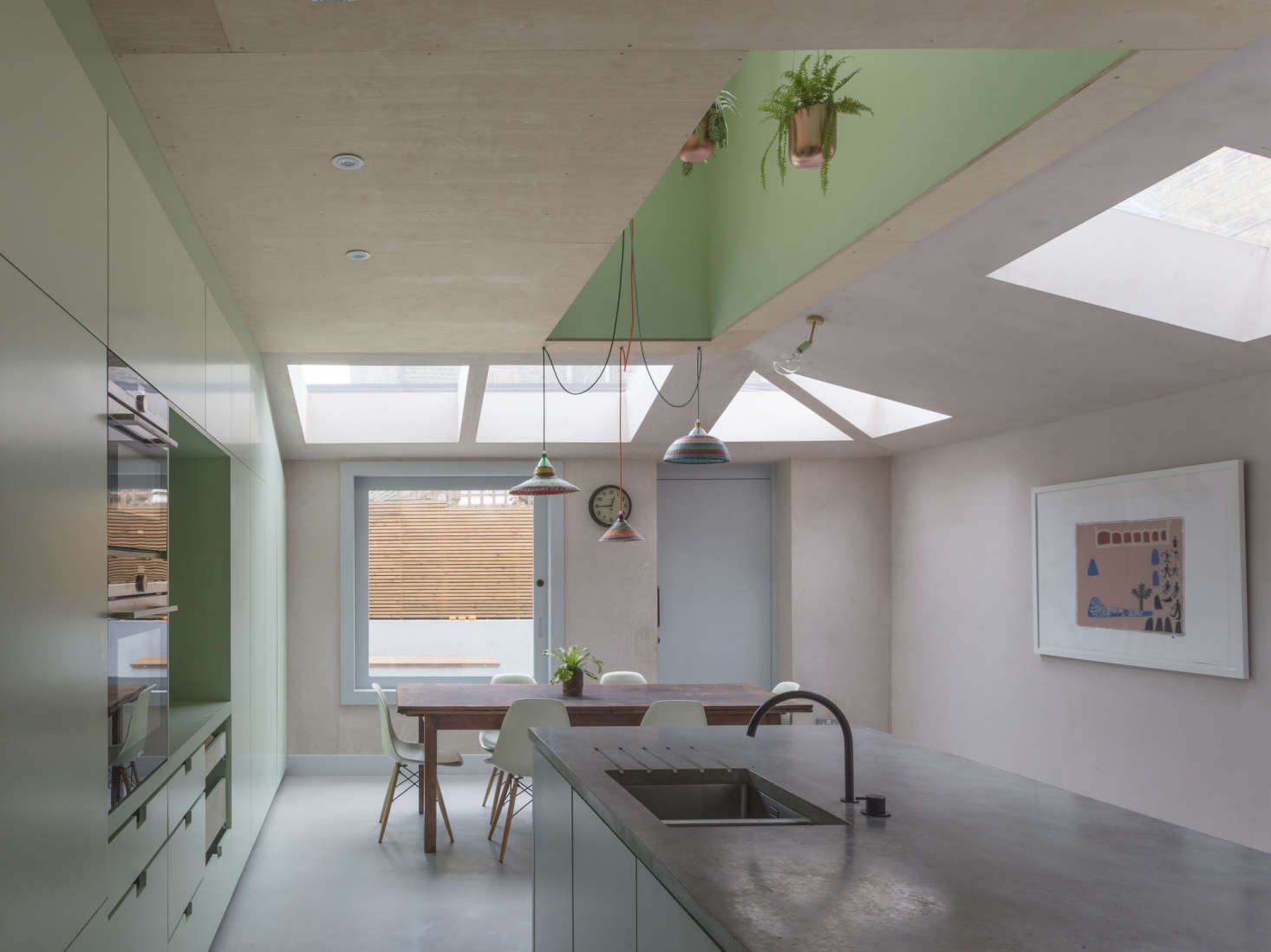 Pink Kitchen Paint Steal This Look A Tropical Kitchen In North London Pastel Paint
