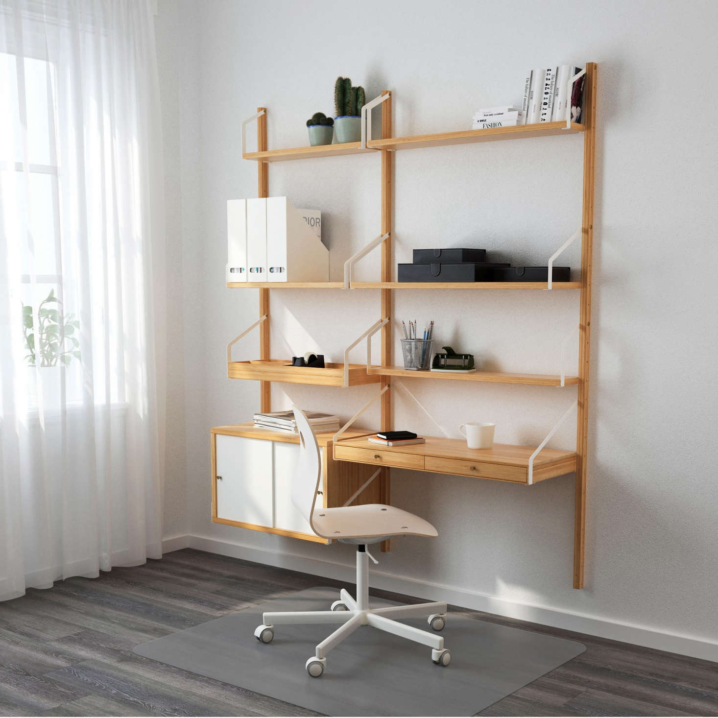 Ikea System High Low Wall Mounted Midcentury Modular Shelving Remodelista