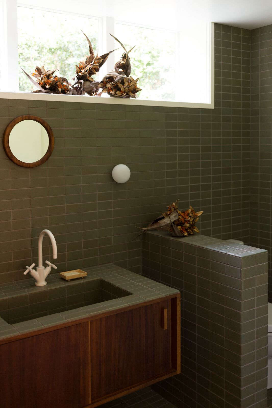 Ceramic Tile Bathroom Bathroom Of The Week Two Bath Remodels With Bold Green Tile In