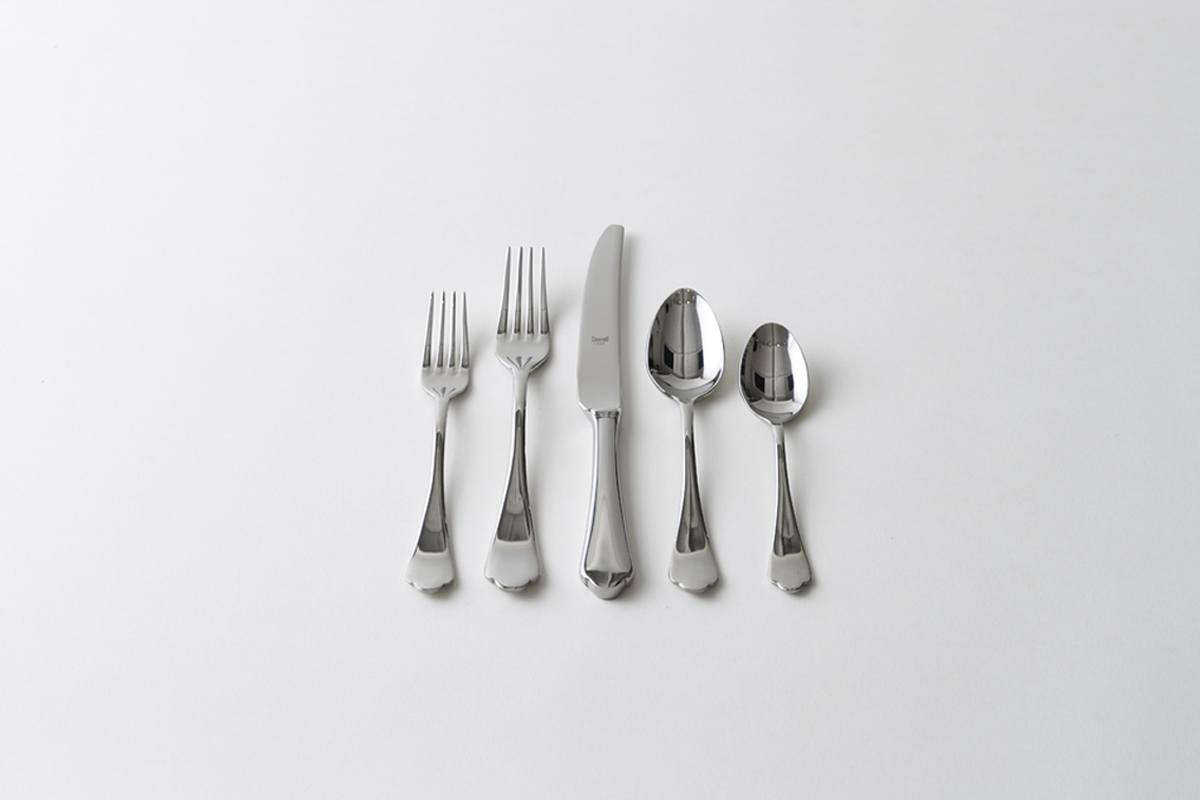 High End Stainless Steel Flatware 10 Easy Pieces Traditional Georgian Style Flatware
