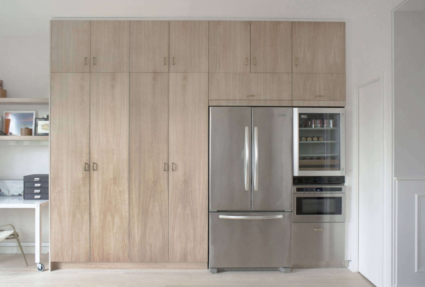 Full Height Kitchen Cabinets A Subtly Detailed Kitchen In Stainless And Wood For A Dc