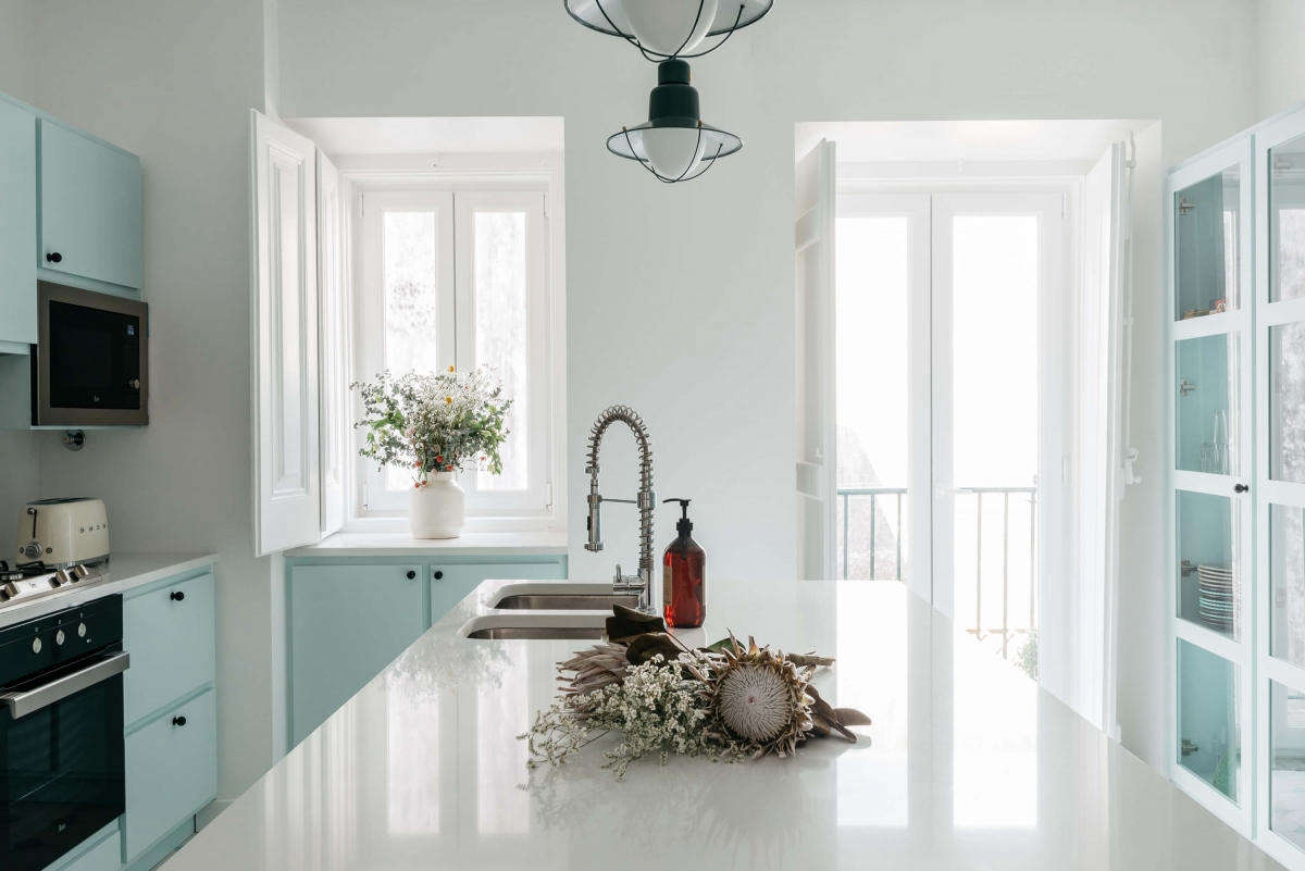 Pale Blue Kitchen Kitchen Of The Week A Serene Space In Pale Blue At Casa C Alma In