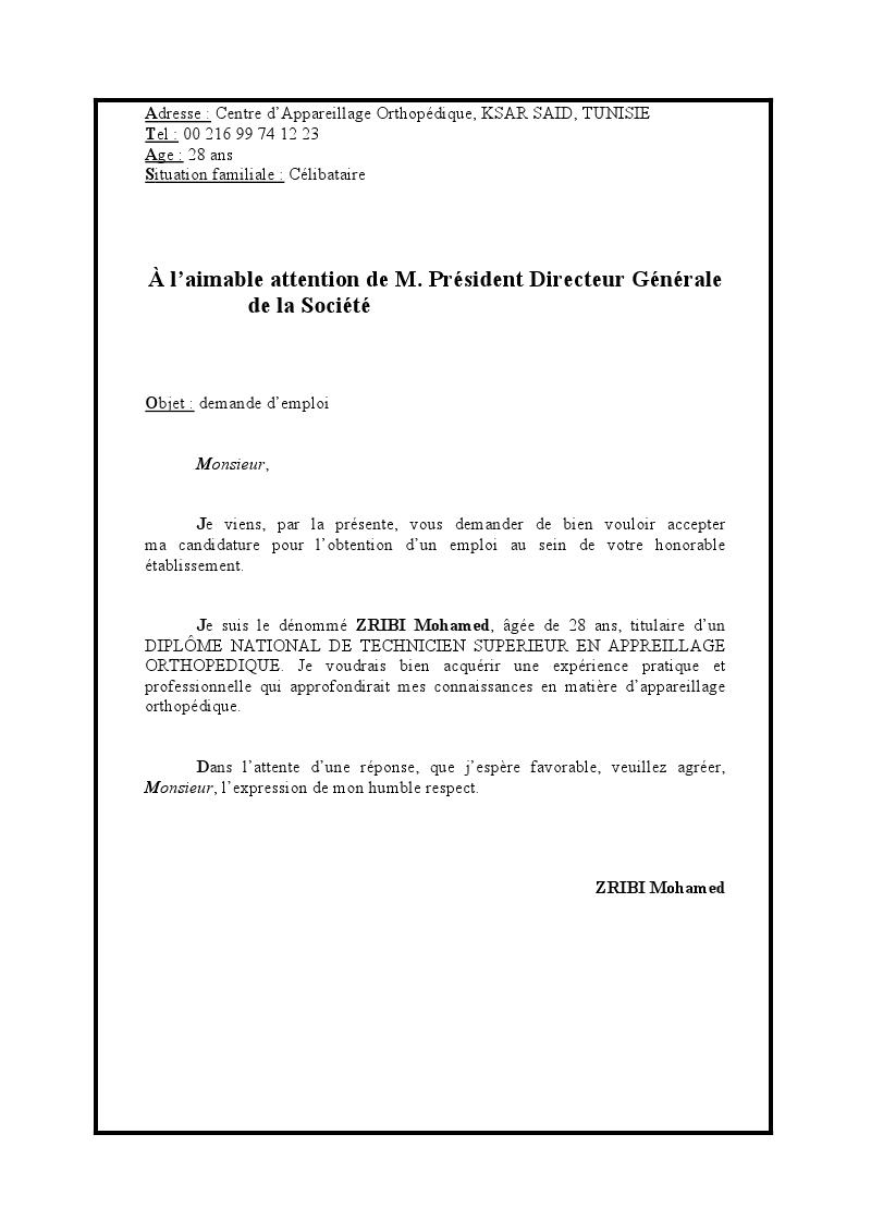 vous trouvez ci joint une lettre de motivation et mon cv