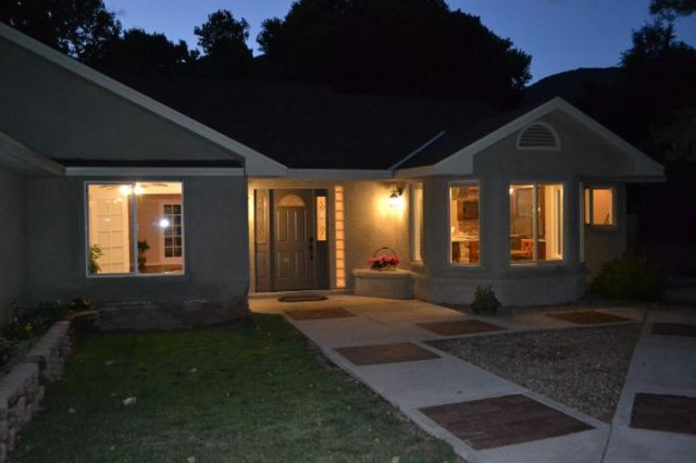 Evening shot of house