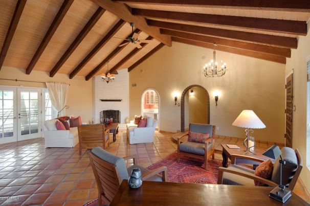Inviting Hacienda with soaring ceilings, lovely arches