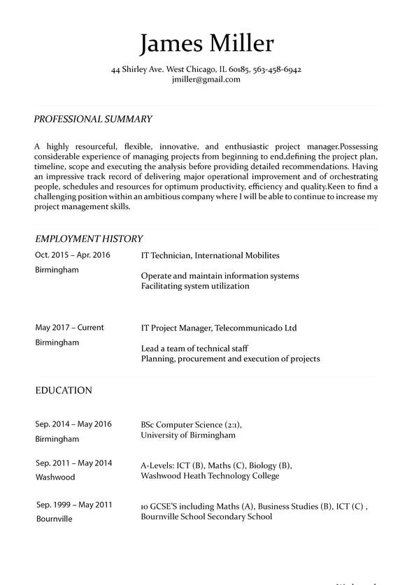 resume builder for doctors