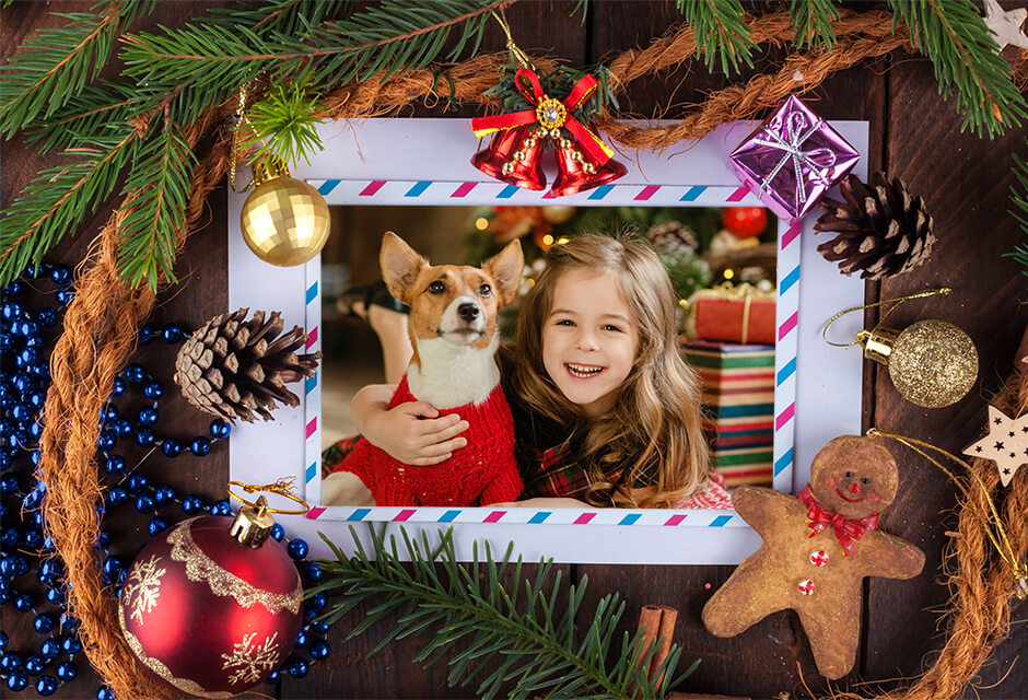 Add frame to photo - photo frame app online on RetouchMe