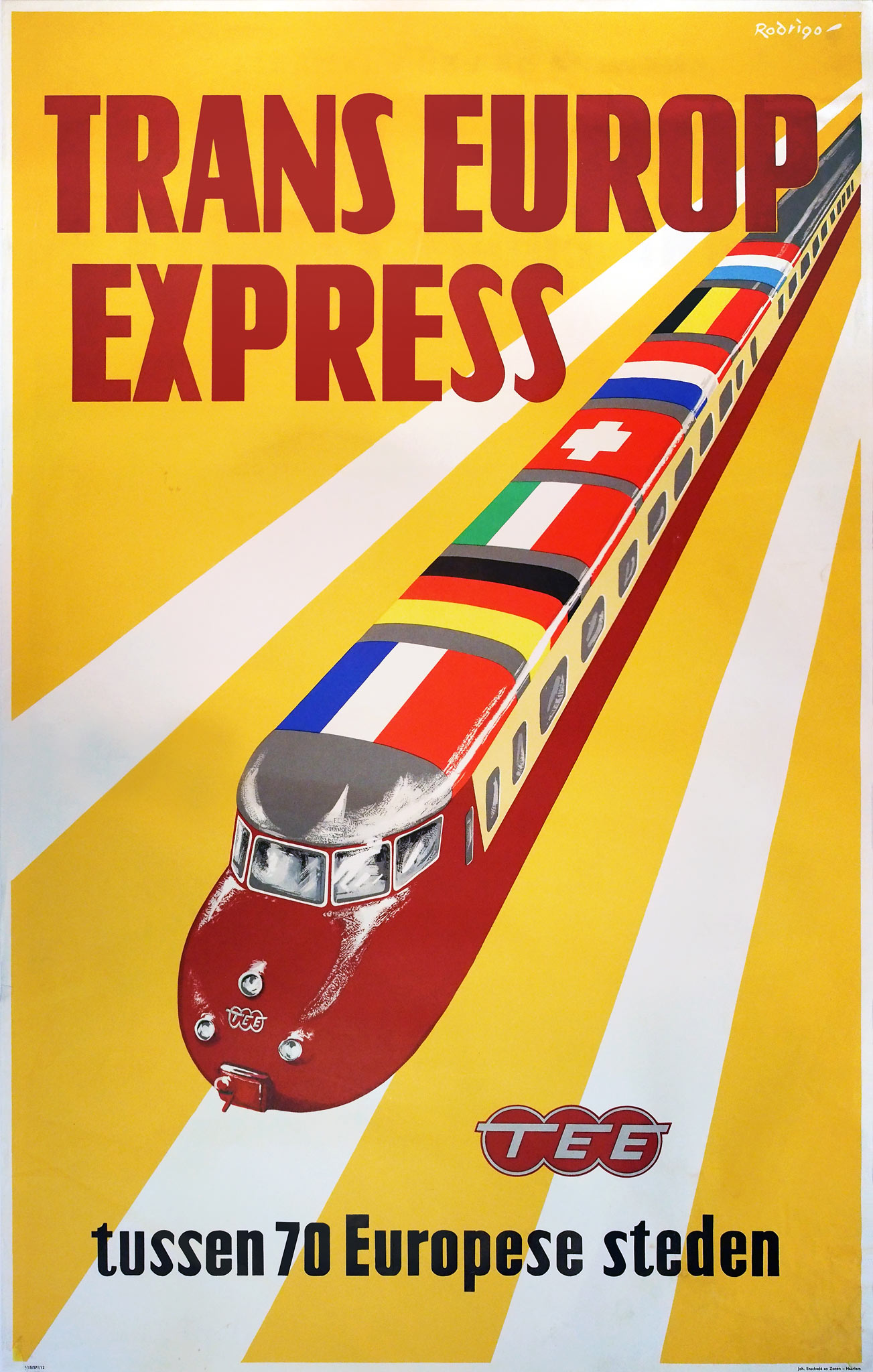 Poster Xpress Tee Design Railcars On Trans Europ Express Posters Retours
