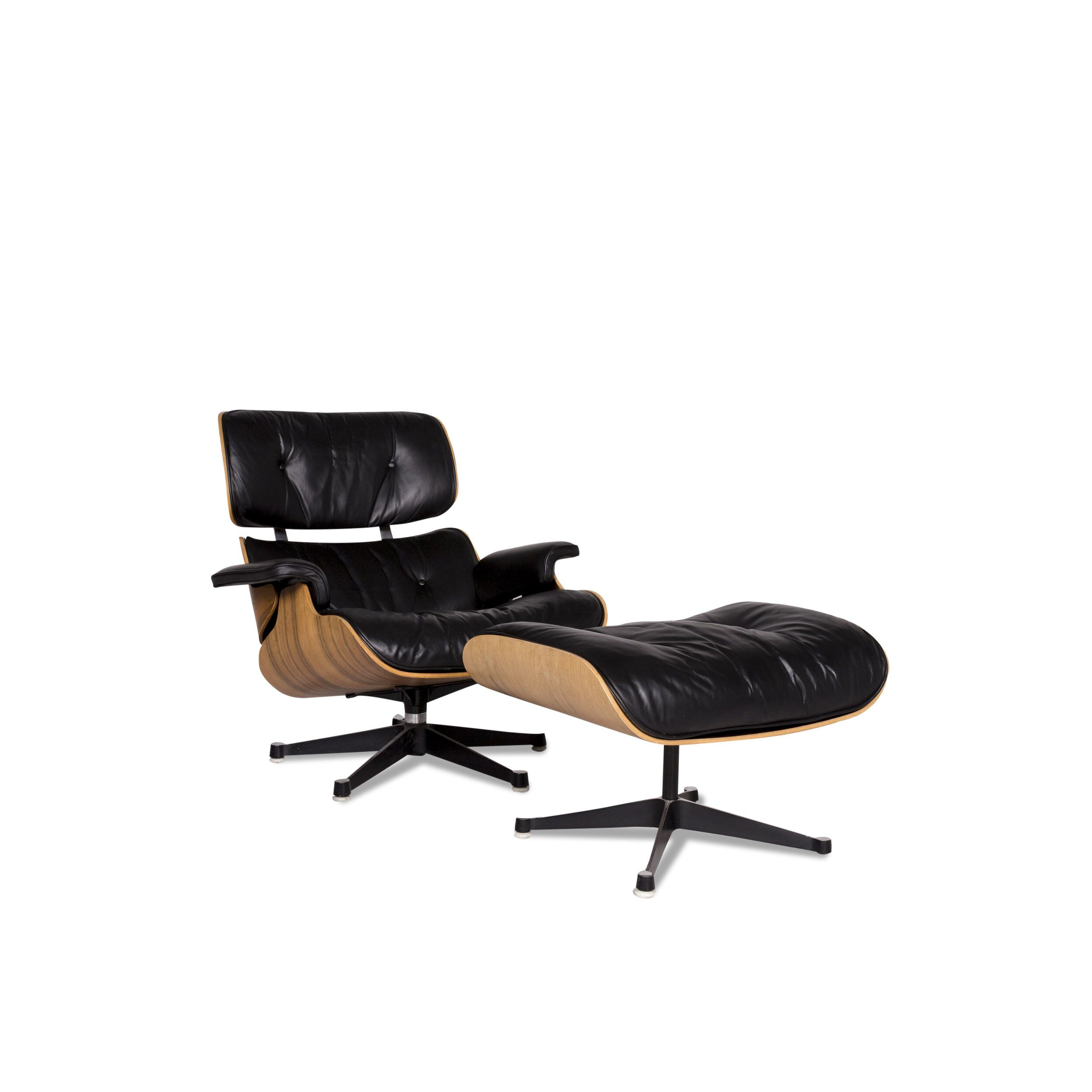 Eames Lounge Chair Zubehör Herman Miller Eames Lounge Chair Leder Sessel Inkl Hocker Schwarz