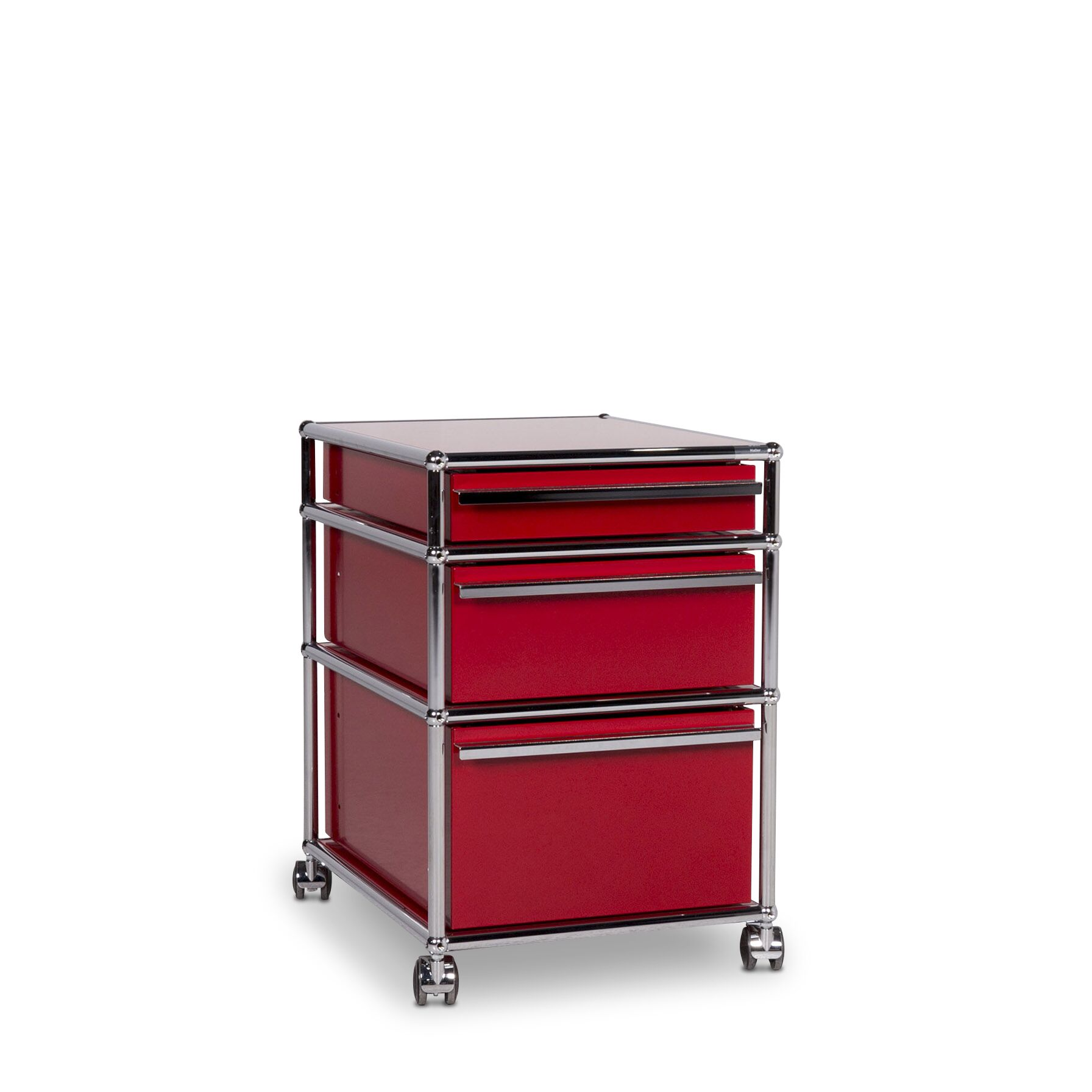 Metall Rollcontainer Usm Haller Metall Regal Sideboard Rollcontainer 3 Schubladen Rot 10060
