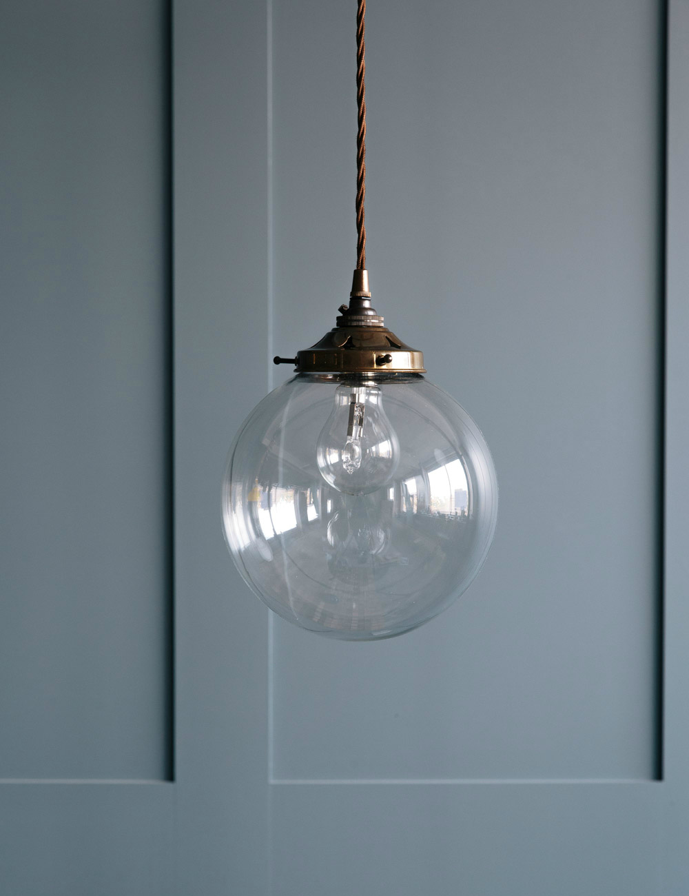 Blown Glass Pendant Lights Globe Blown Glass Pendant Light At Rose & Grey