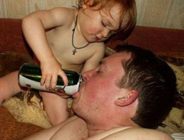 bad parenting feeding beer dad The Worlds Worst Parents