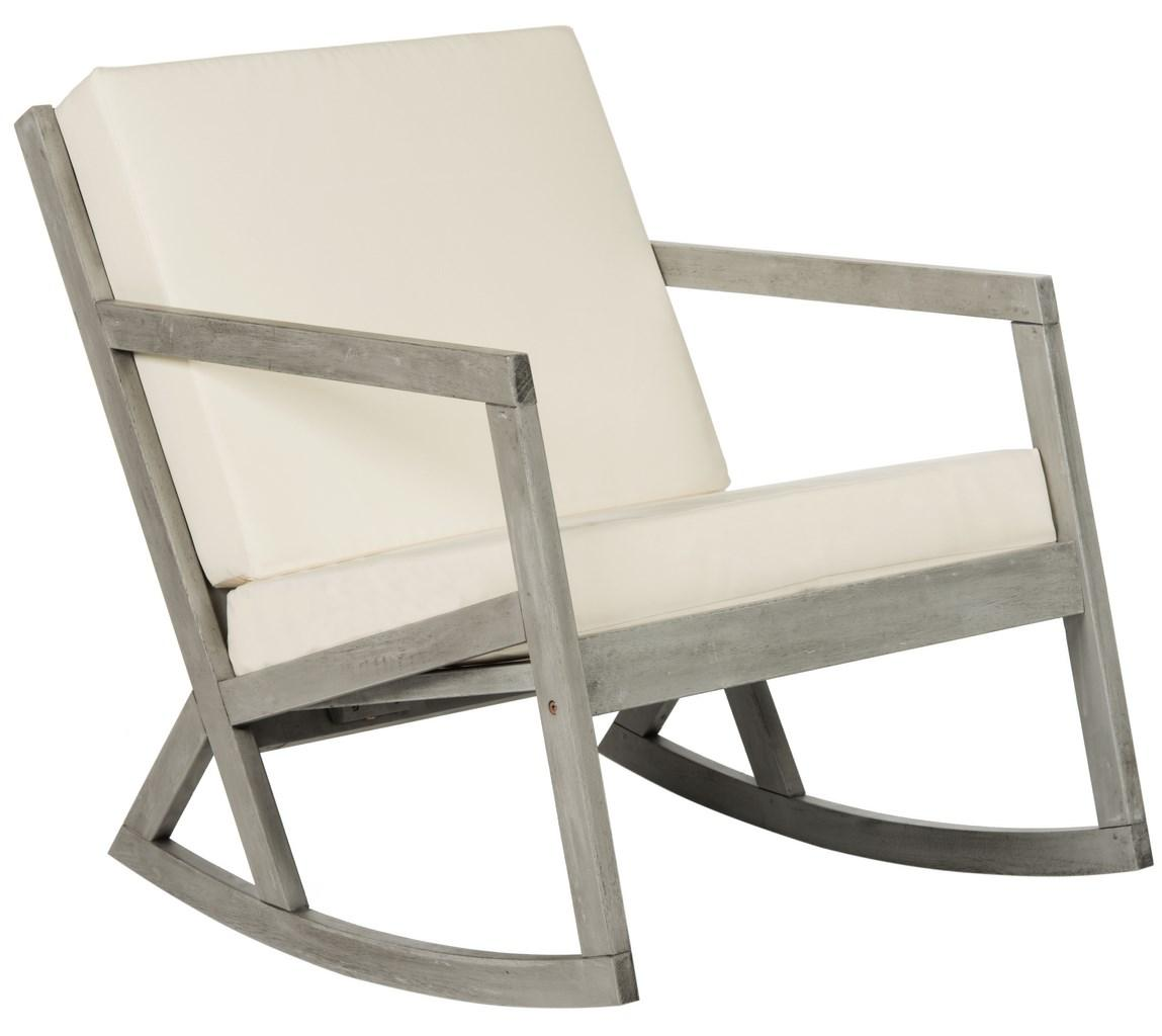Wood Rocking Chair Cushioned Rocking Chair Outdoor Rocker Safavieh