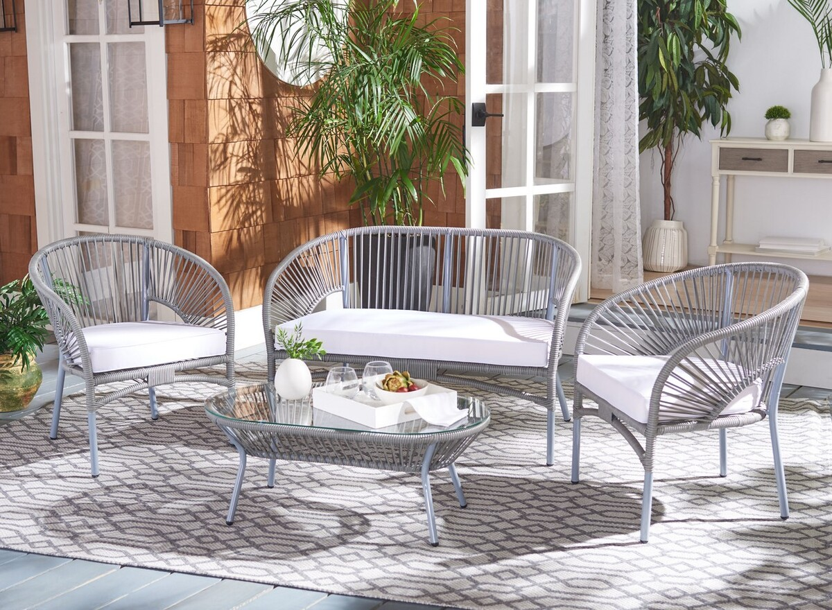 Pat7522b 2bx Patio Sets 4 Piece Furniture By Safavieh