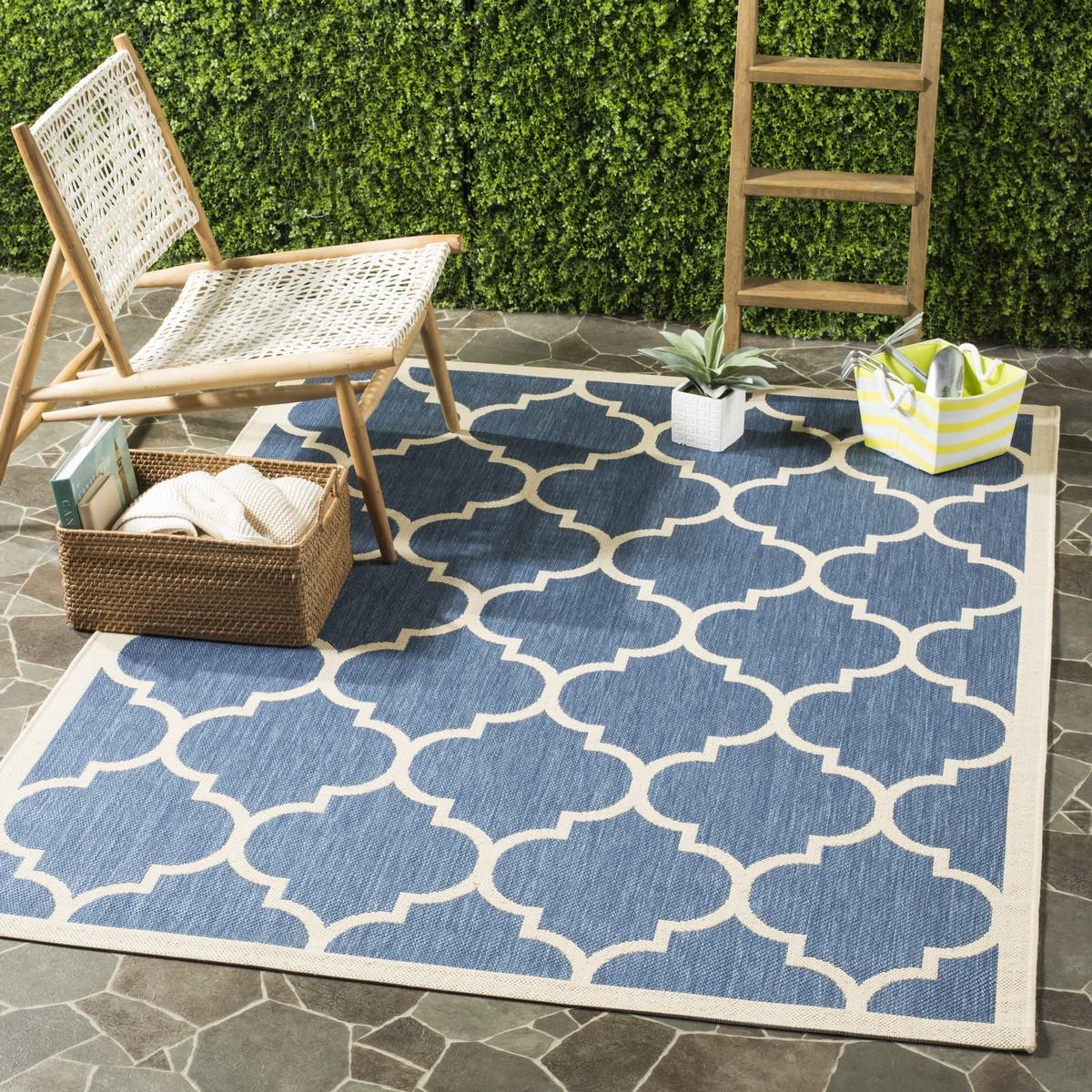 Blue Tile Indoor Outdoor Rug Safaviehcom