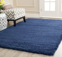 Navy Blue Shag Rug | Milan Collection - Safavieh.com
