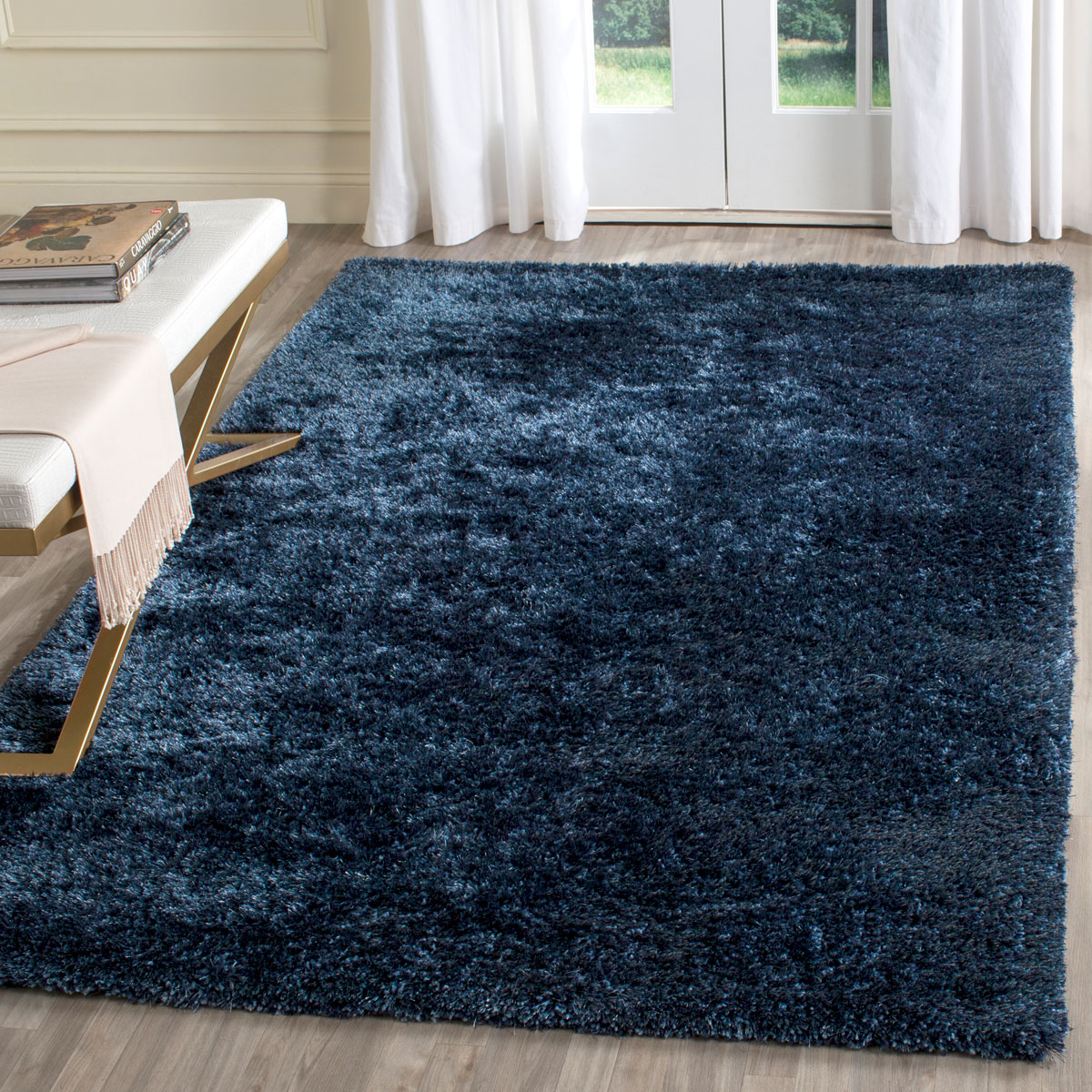Blue Shag Rug Plush Navy Blue Shag Toronto Collection Safavieh