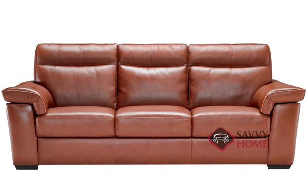 Cervo B757 Leather Stationary Sofa By Natuzzi Is Fully