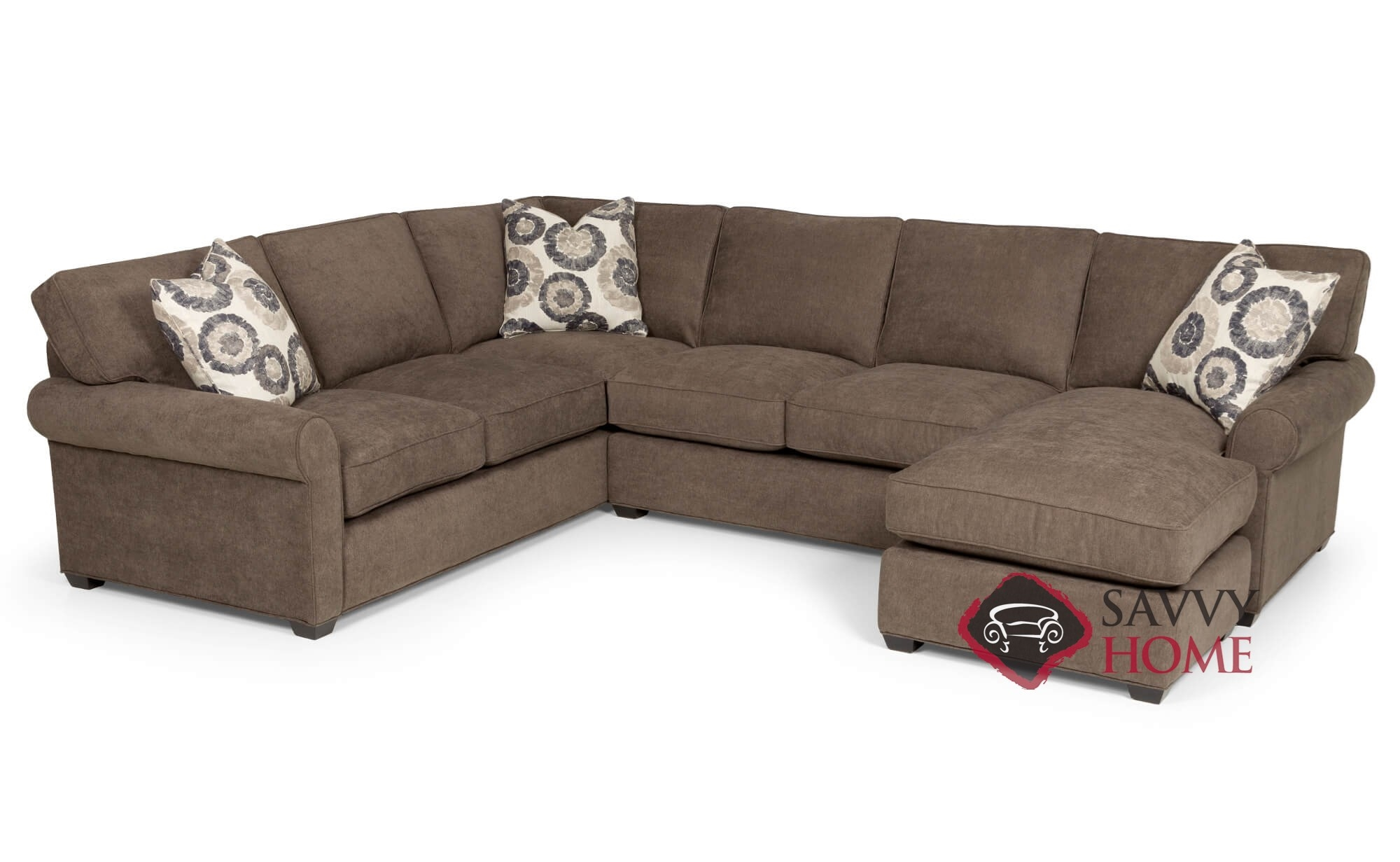 U Couch The 225 U Shape True Sectional Sofa By Stanton With Down Blend Cushions