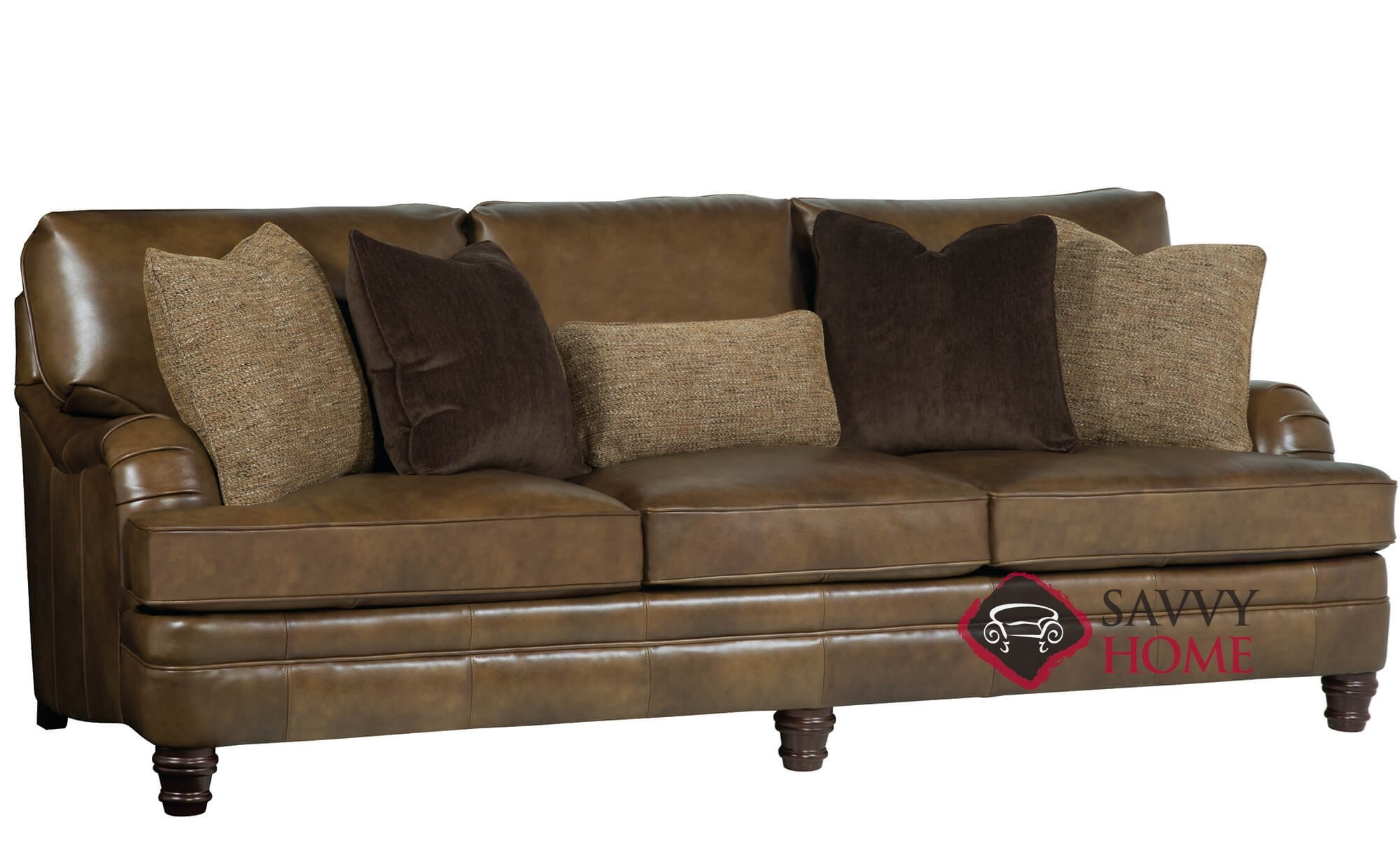 Tarleton Leather Sofa With Down Blend Cushions By Bernhardt In 266 020