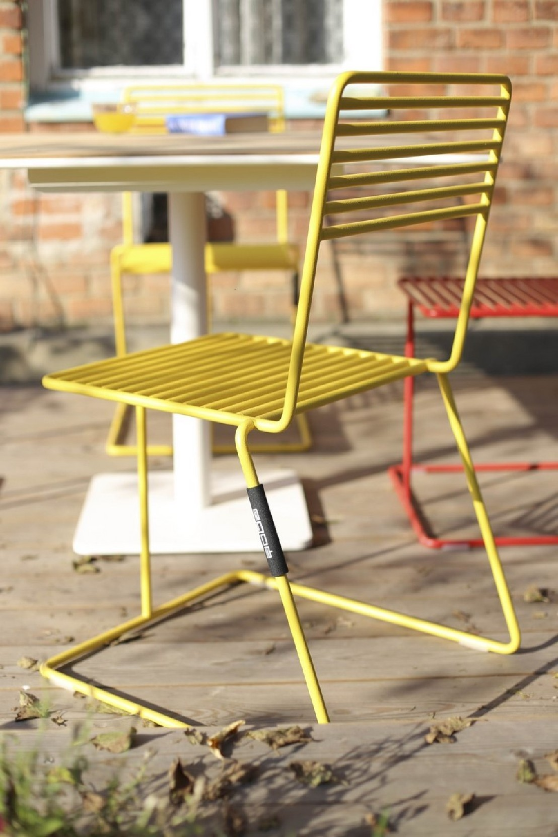 Table Jardin Metal Couleur | Rig49 Table Ronde En Métal Diamètre 80 ...