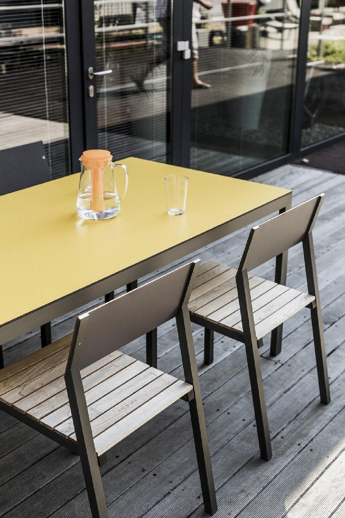 Salon Jardin Cora | Ensemble Repas Cora Table Carrée Et 4 Chaises Métal